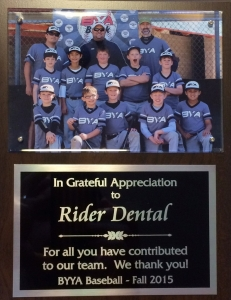 BYYA Youth Baseball Sponsor