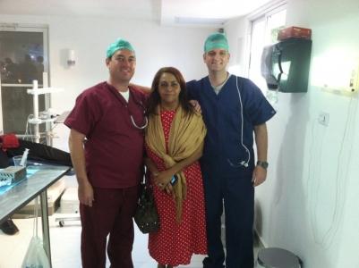 Dr. Rider & Dr. Schmidt with happy patient