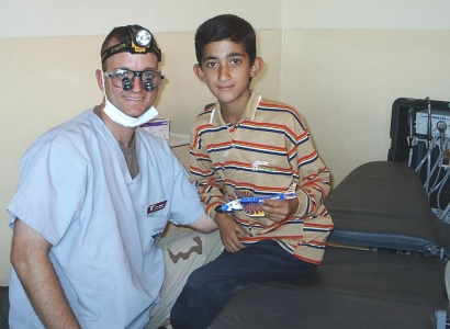 One of 300 children treated in Balad