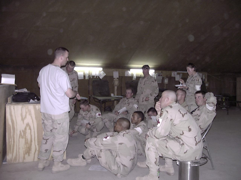 Teaching Dental Triage to medics Camp Bucca – 2005