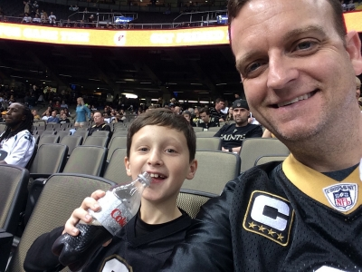 Dr. Rider & Nathan at Saints vs. Jacksonville game