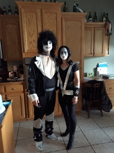 Dr. Rider & Shelley dressed up like KISS