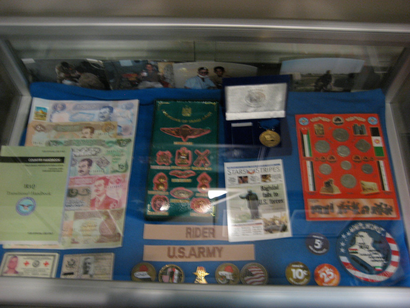 Military Area - Memorabilia from Dr. Rider's Operation Iraqi Freedom Deployments