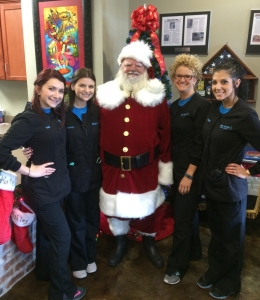 Santa with the Rider Dental Elves